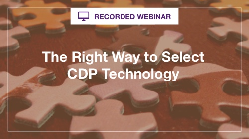 Right Way to Selected CDP - recorded webinar